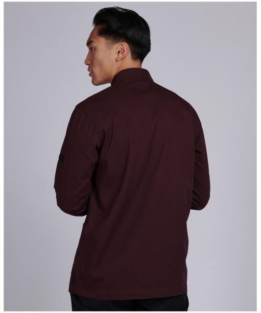 Men's Barbour International Patch Overshirt - Dark Burgundy
