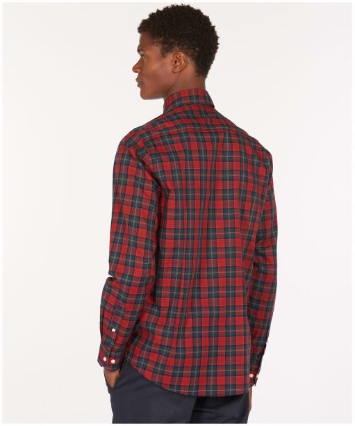 Men's Barbour Tartan 8 Tailored Shirt - Crimson Check