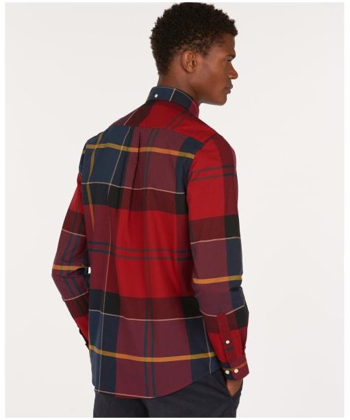 Men's Barbour Tartan 10 Tailored Shirt - Crimson