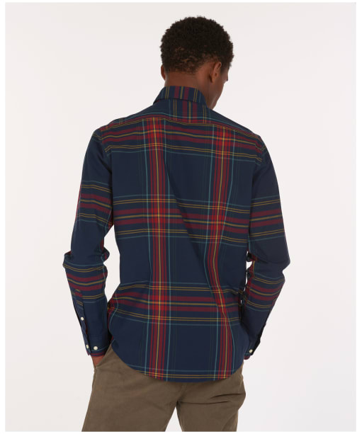 Men's Barbour Highland Check 44 Tailored Shirt - Navy Check