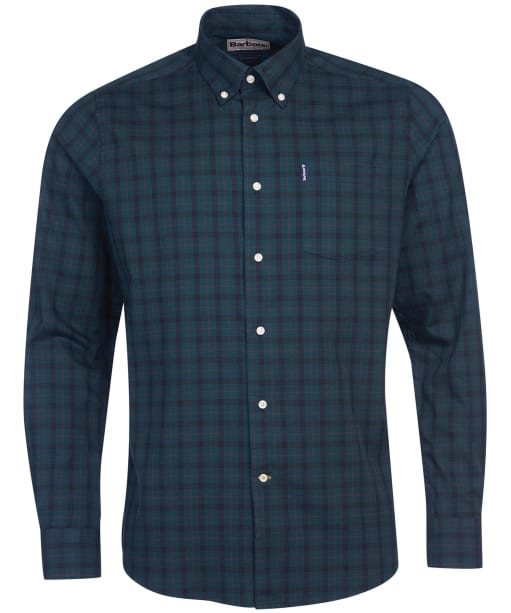 Men's Barbour Country Check 16 Tailored Shirt - Green Check