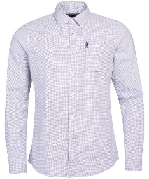 Men's Barbour Houndstooth 1 Tailored Shirt - White