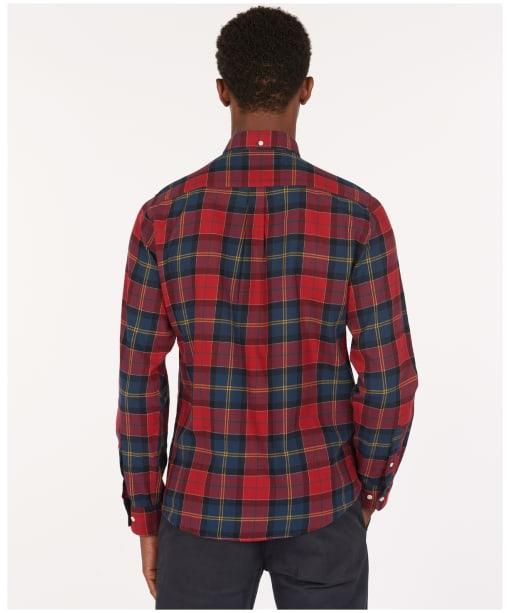 Men's Barbour Tartan 9 Tailored Shirt - Crimson Check