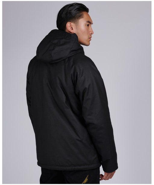 Men's Barbour International Afton Wax Jacket - Black