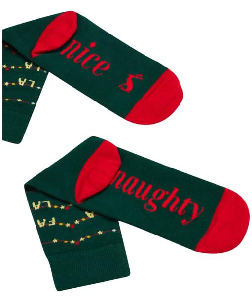 Women's Joules Christmas Single Socks - Navy Fa La La