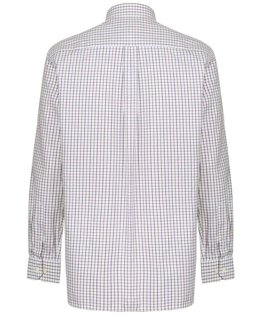 Men's Schoffel Milton Tailored Shirt - Purple / Olive Check
