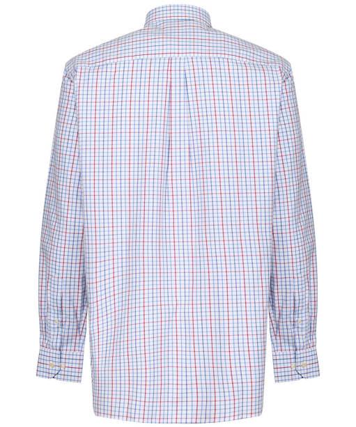 Men's Schoffel Milton Tailored Shirt - Red / Denim Check