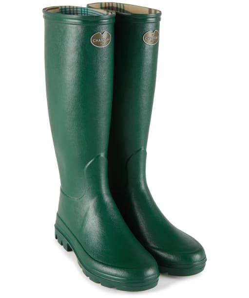 Women's Le Chameau Iris Jersey Lined Boots - Vert Fonce