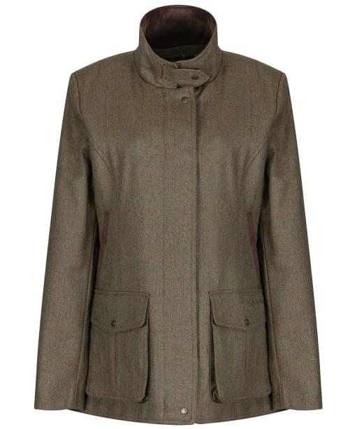 Women's Schoffel Lilymere Tweed Jacket - Loden Green Herringbone Tweed