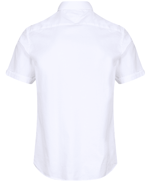 Men's Tommy Hilfiger Slim Fine Twill Short Sleeve Shirt - White