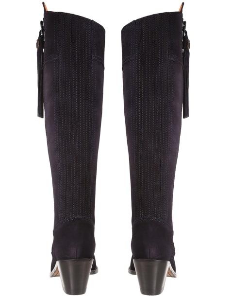 Women's Fairfax & Favor Regina Heeled Sporting Fit Boots - Navy Suede