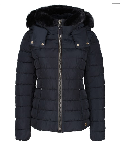 Women's Joules Cassington Padded Coat - Navy