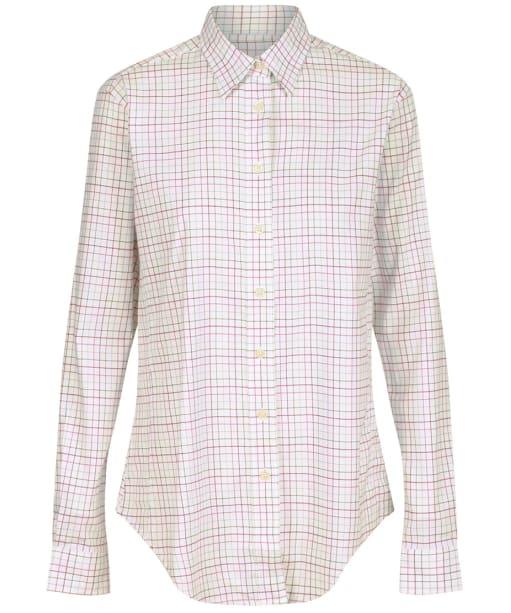 Women's Schoffel Ashley Tattersall Shirt - Dusty Pink / Chilli / Green