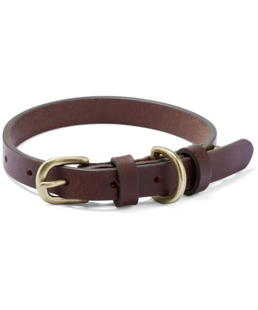 Le Chameau Leather Dog Collar - Marron Fonce