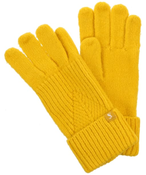 Women's Joules Thurley Gloves - Gold