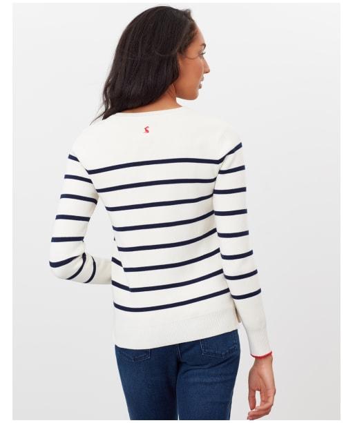 Women's Joules Portlow Jumper - Cream Stripe