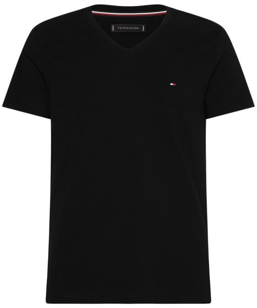 Men's Tommy Hilfiger Slim Fit V-Neck T-Shirt - Flag Black