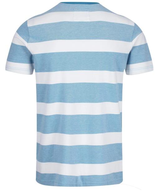 Men's Crew Clothing Oxford Stripe Tee - Navagio / White