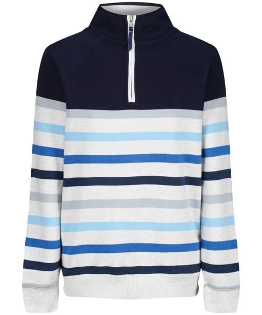 Women's Crew Clothing Half Zip Sweater - Grey / Blue