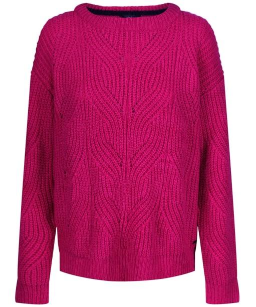 Women's Joules Clover Fluffy Pointelle Jumper - Pink