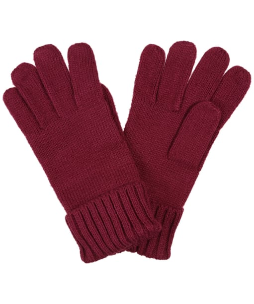 Women's Joules Joanie Knitted Gloves - Plum