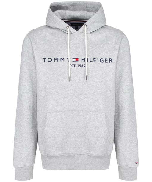 Men's Tommy Hilfiger Logo Fleece Hoody - Cloud Heather
