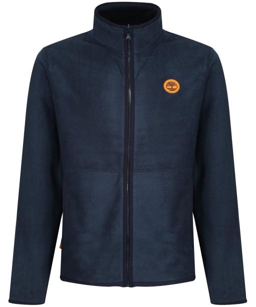 Men's Timberland Mix Media Fleece Jacket - Dark Navy