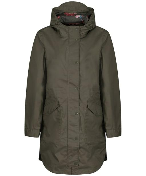 Women's Joules Loxley Longline Waterproof Jacket - Grape Leaf