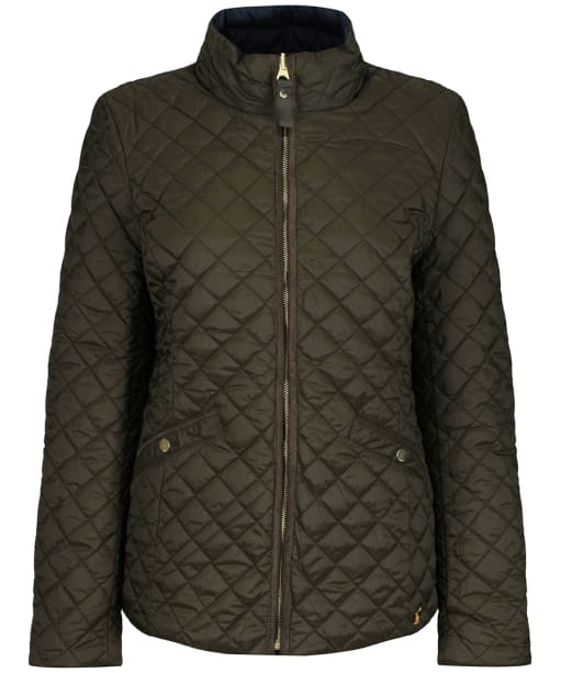 Women's Joules Highgrove Reversible Quilted Jacket - Heritage Green