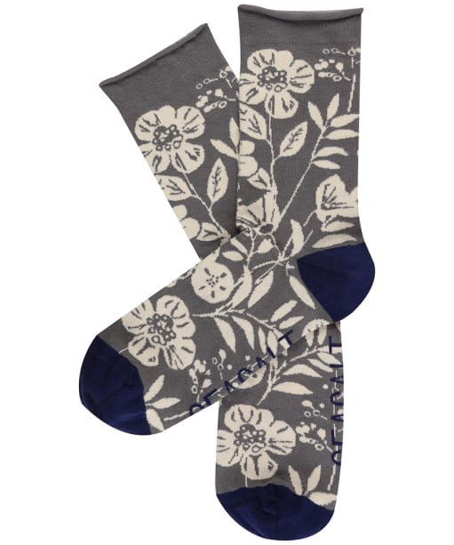 Women's Seasalt Arty Socks - 50's Border Smoke Grey