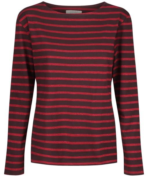 Women's Seasalt Sailor Shirt - Breton Bitter Cocoa Rich Red