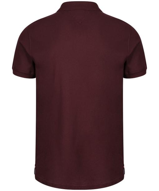Men's Tommy Hilfiger Luxury Stretch Slim Polo Shirt - Deep Burgundy