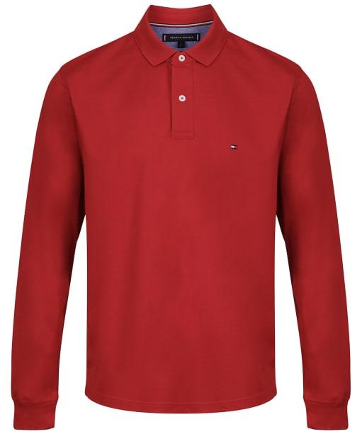 Men's Tommy Hilfiger Regular Long Sleeve Polo Shirt - Arizona Red