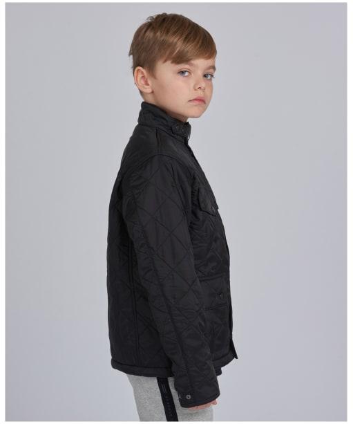Boy's Barbour International Ariel Polorquilt Jacket, 6-9yrs - Black