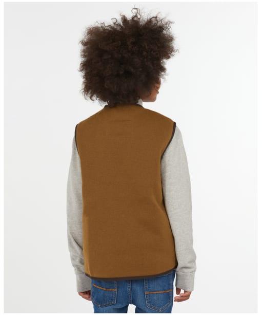 Barbour Children's Beaufort Waistcoat / Zip-in Liner, 2-9yrs - Brown