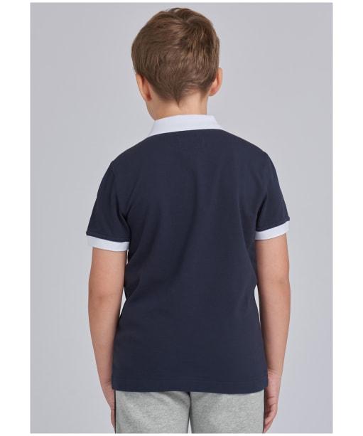Boy's Barbour International Contrast Polo Shirt, 6-9yrs - Navy
