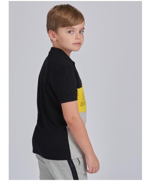 Boy's Barbour International Bold Polo Shirt – 10-15yrs - Black