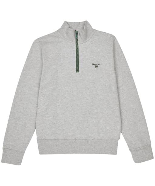 Boy's Barbour Half Zip Sweater, 10-15yrs - Grey Marl