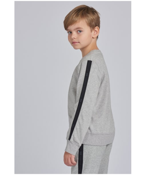 Boy's Barbour International Tape Sweater – 10-15yrs - Grey Marl
