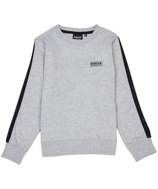 Boy's Barbour International Tape Sweater – 6-9yrs - Grey Marl