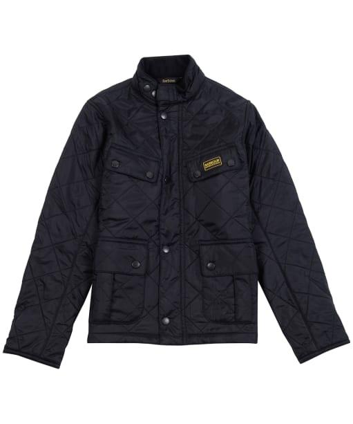Boy's Barbour International Ariel Polorquilt Jacket, 2-9yrs - Black