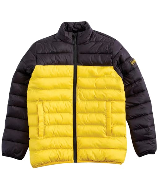 Boy's Barbour International Two Tone Impeller Quilt – 10-15yrs - Black / Yellow
