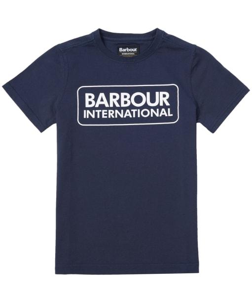 Boy's Barbour International Essential Large Logo Tee, 10-15yrs - Navy