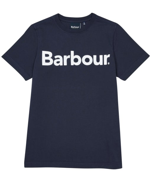 Boy's Barbour Logo Tee, 10-15yrs - New Navy