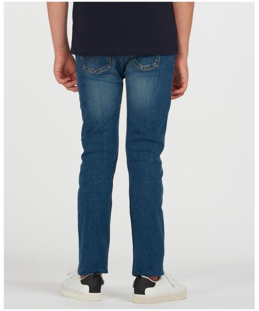 Girls Barbour Essential Slim Jeans, 10-15yrs - Tri Worn