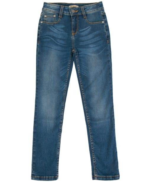 Girls Barbour Essential Slim Jeans, 6-9yrs - Tri Worn