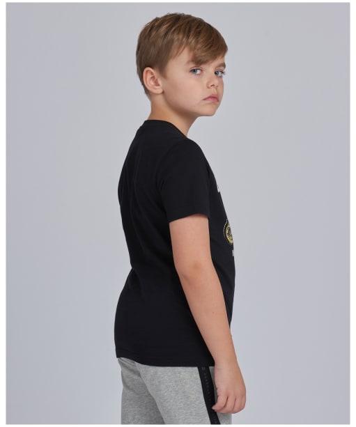 Boy's Barbour International Rider Tee – 6-9yrs - Black