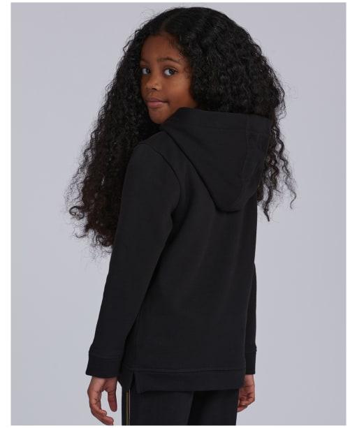 Girl's Barbour International Grid Hoodie – 10-15yrs - Black