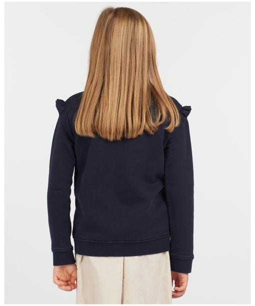 Girls Barbour Otterburn Frill Overlayer – 6-9yrs - Navy