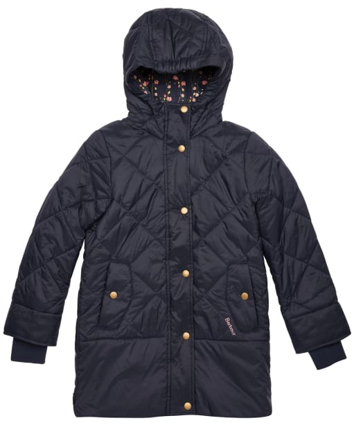 Girls Barbour Tynemouth Quilted Jacket – 10-15yrs - Navy